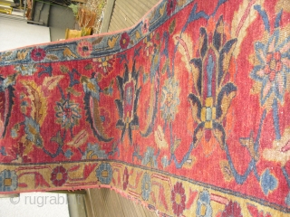 Larger Persian Runner - made from a border End of 19th century - very rare drawing, Size: ca 540 cm x 62 cm  perhaps Tabriz - needs to be cleaned -  ...