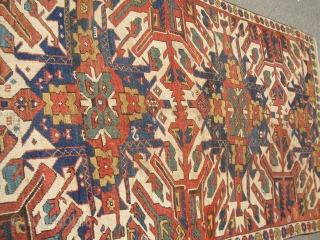 Old Eagle Kazak - Tschelaberd - in as found condition - 1900/1920 or older I am unsure - dirty, used condition with one rewoven end as I would say/ Size: 210/133 cm  ...