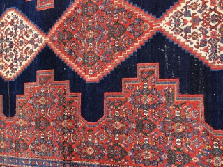 Old/Antique kurdish Senneh rug - probably around 1910, very elegant/ signs of use 