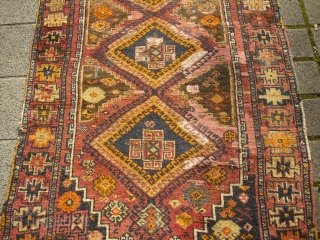 Anatolian Yuruk /Yürük Runner - 1900-1920  - lot of restorations - Village Rug -/ Size: 235cm x 115cm// shipping worldwide possible, please ask for shippingfees