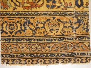 Early Antique Persian Carpet Fragment - great colors, wool like velvet, bad worn condition but rare, Size: approx 64 x 53 cm