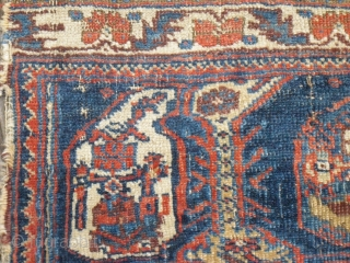 Afshar bagface fragment - 19c - very soft handle - even thin + fine waive - very nice small bag (Size: ca. 43 x 66 cm)