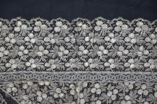 Austrian bobbin lace made with metal thread, 19th c. perfect condition, 53 x 53 cm