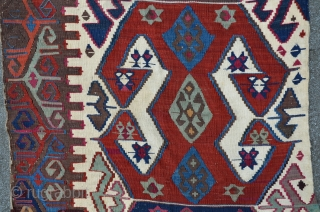 Anatolian Kilim, 340 x 88 cm, all natural colors