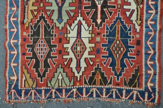 Antique East Caucasian Avar kilim, 280 x 150 cm, beautiful colors