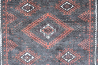 Baluch with Mushwani Design, second Q. 20th, very fine and in perfect condition.