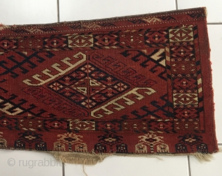 Antique Turkoman Ersari Torba. Nice early Ersari torba. 122 cm x 35 cm. Nice colours with good age.