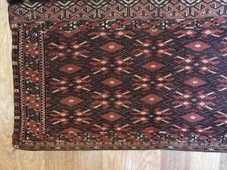 Turkmen asmalyk  dhl Woldwide free shipping  #asmalyk # turkmen #yomut ##tekke #turkmentekkerug #excelent condıtıon. size:88x47cm