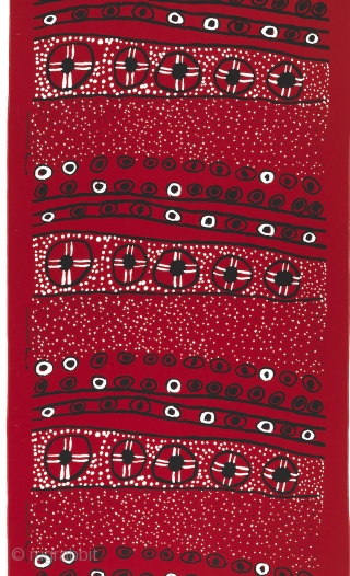 """Lecture in Los Angeles:  Saturday, January 27, 2019, 10 a.m.: """"Screen Printed Textiles from Australia's Top End,"""" Dr. Joanna Barrkman, Senior Curator of Southeast Asian & Pacific Arts, Fowler Museum at  ..."""