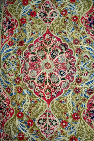 Early example of a Rescht (Rashti Durzi) embroidery. 4x6 ft.