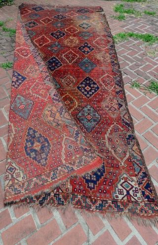 Spectacular Early 1800 Turkmen Ersari Beshir Carpet. Undocumented as far as I know. $1 NO RESERVE on eBay: http://www.ebay.com/itm/NO-RES-SPECTACULAR-EARLY-1800s-TURKMEN-BESHIR-ERSARI-RUG-CARPET-MUSEUM-RUG-/311669850831?ssPageName=STRK:MESE:IT