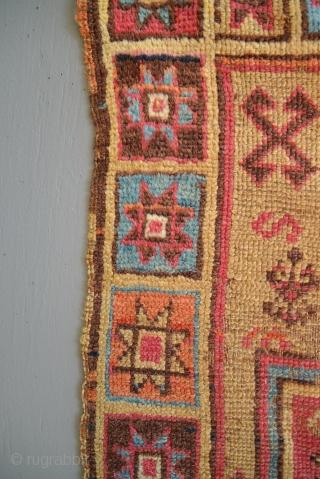 Very early Anatolian Armenian Yastik with fabulous colors.