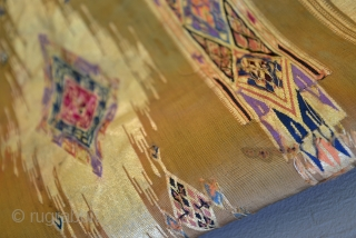 XIXth C. Gold Syrian / Lebanese Ottoman Kilim weave