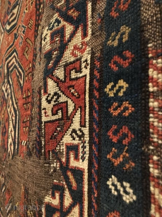 Shahsavan long rug fragment.  2nd Half 19th Century.  