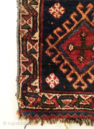 Luri Bagface.  Last Quarter 19th Century.  7 colors.  22 x 18in.  Delicately hand washed.
