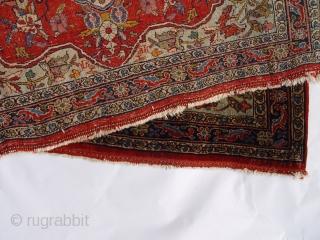 "Antique Persian Bijar Poshti rug, 1'10"" X 2'8"" , circa 1900"