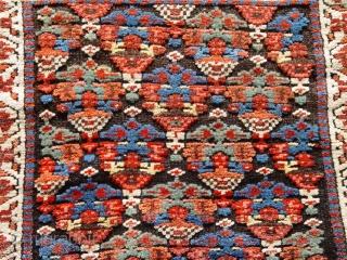 """Kurdish Bag face size 2' X 2'3"""" amazing colors, 1880's"""