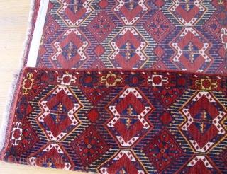 "Antique Turkmen Ersari 3'7"" X 6' wonderful condition, made of 100% wool both pile & foundation, circa 1880's,"