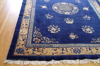 "Antique Peking Chinese , size is 6'1"" x 8'7"" has a full pile through out the rug and is in wonderful condition for its old age, has been hand washed and cleaned,  ..."