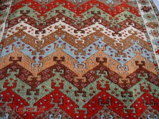 "Antique Eastern Turkish 3'10"" X 7'2"", stunning colors and design."