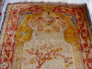 "Angora Anatolian Turkish Oushak size 3'4"" X 5'11"" second or third quarter of 19th Century"