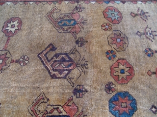 "Kurdish rug 3'7"" X 4'11"" third quarter of 19th Century."