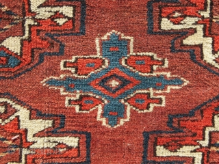 "Turkmen ""Chuval"", Yomut Group, Central Asia, 19th C., 3'4"" x 2'6""