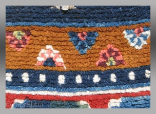 """""""Khaden"""", Central (?) Tibet, late 19th century (circa 1880?), 2' 3"""" x 4' 7""""  The world Tibetan rugs commands a small but very devoted crowd. In no other aspect of antique collectible tribal  ..."""