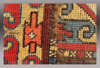 """Uzbek (non Turkmen Central Asian) Pile Band, Central Asia, 19th C., 10"""" x 8'"""