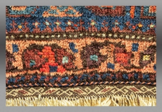 Baluch Bag Face, W. Afghanistan, 19th C.  Condition is evident in the images, wear but no repairs.  All natural dyes.  Please inquire for price and further information you may require