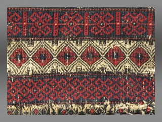 """Baluch Salt Bag, NE Persia, 19th C., 16"""" x 19.5""""  Please inquire for further information"""