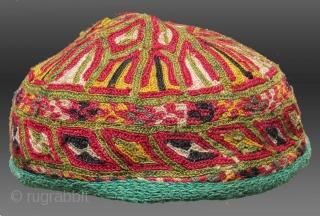 Ersari Turkmen Embroidered Hat, Central Asia, circa 1920  $275 including domestic shipping via US Priority Mail