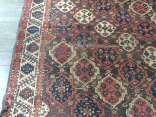 A very unusually large Chodor Maincarpet. Dirty and lots of difficulties with only a few small worn areas, restorable. As Found.