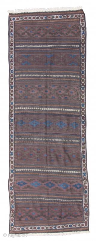 """Baluch kilim, around 1900, 368 x 126 cm, 12'1"""" x 4'2"""""""