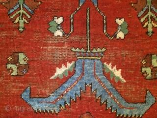 "ladik, anatolia, 19th c., 334 x 113 cm, 11 x 3'8"", partly worn, one corner with an old restoration"