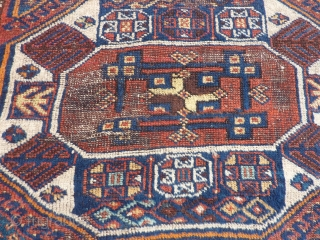 "Yoruk, ""Holbein"" Kurdish rug, 46""x 96"" Originally purchased from a store called ""Anatolia"" (now gone) in Seattle, some years ago. SOLD--THANK YOU!"