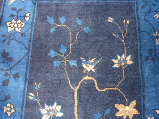 """SOLD__THANK YOU! Pretty Chinese rug 5'8"""" x 35"""" in nice condition.  Approximately """"art deco"""" age--possibly older? Shiny, high quality wool but looks more dull than it should in my pictures because  ..."""