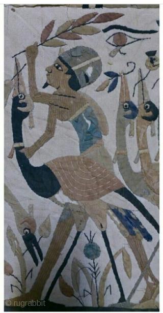 Egypt applique on fabric, size: 45*45cm.
