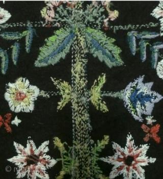 Swedish embroidery wool on felt, size: 77*52cm, wall hanging.
