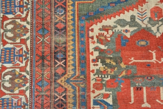 Collectors Bakhtiyar rug, Early 20th century, size is 210 x 138 cm