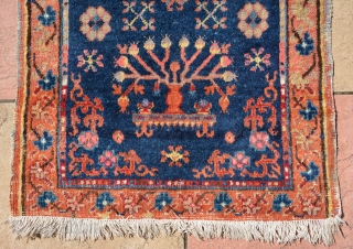 Rare small Khotan runner with beautiful elements, end 19th century, size is 202 x 66 cm