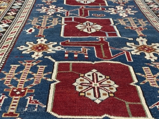 Antique Shirvan dated rug in very good condition except a minor place need to be sorted, good pile size is 156 x 96 cm