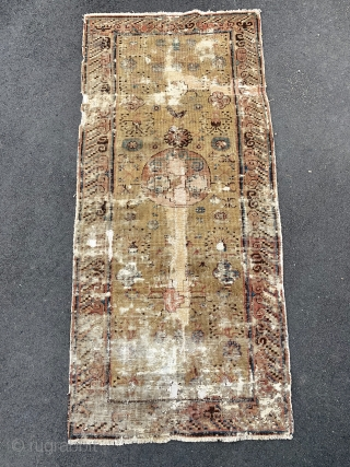 Antique Khotan Early 19th century, size is 182 x 83 cm
