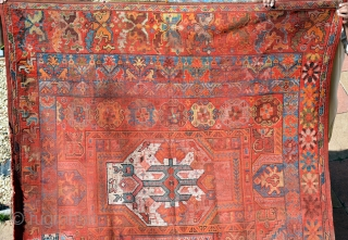 Moroccan rug, (Rabat) 19th century, size is 370 x 182 cm