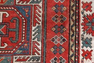 Kazak 19th century, fair condition, come old repile area  175 x 133 cm
