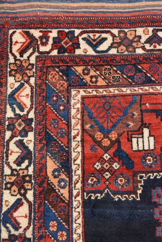 Antique Persian classic AFSHAR RUG, circa 1920, Excellent condition with rich pile. Size is 180 x 136 cm