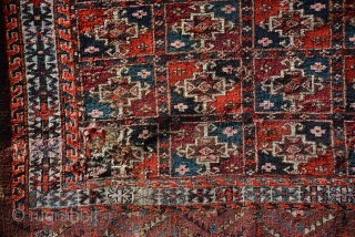 Exceptional Yomut Rug 19th Century 157 x 107 cm