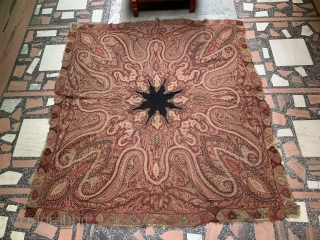 Antique Kashmir Shawl ... Beautiful Embroidery work and in good condition .