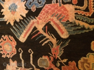 Circa 1925, Dragon and Pheonix rug.  Good age and Good condition . 