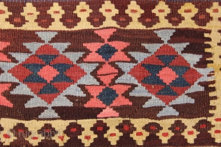 Shahsaven kilim mafrash,very unusual design..1,44x1,27cm